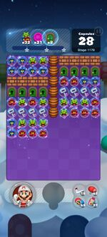 Stage 1179 from Dr. Mario World