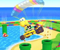 The icon of the Dry Bones Cup challenge from the Marine Tour and the Roy Cup challenge from the Ninja Tour in Mario Kart Tour.