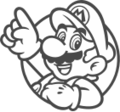 Mario Line Drawing Icon.png