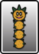 A Pokey card from Paper Mario: Color Splash
