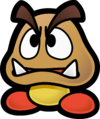 Artwork of a Goomba from Paper Mario: The Thousand-Year Door