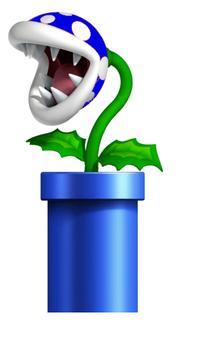 A blue piranha plant