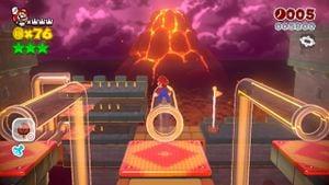 Hidden Luigi found in Red-Hot Run in Super Mario 3D World.
