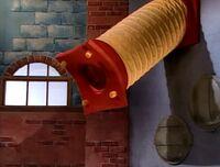 The tube that Mrs. Gammliss is heard singing through
