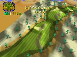 Hole 9 of Shy Guy Desert from Mario Golf