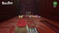 The elevator shaft bonus area in Super Mario Odyssey