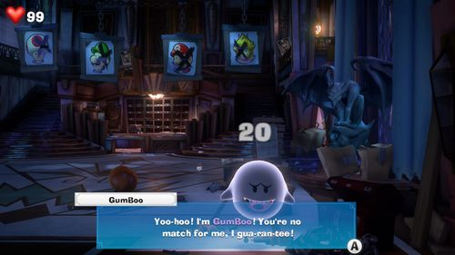 Gumboo, a Boo from Luigi's Mansion 3.