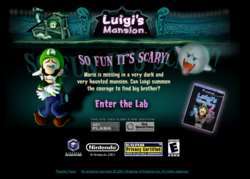 """A screenshot of the """"Lab"""" activity from the Luigi's Mansion website"""