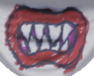 The mouth on the mask of Bowser Jr. in the Wii U version of Mario & Sonic at the Rio 2016 Olympic Games.