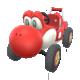 Red Turbo Yoshi from Mario Kart Tour