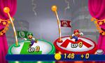 The post-battle screen from Mario & Luigi: Dream Team