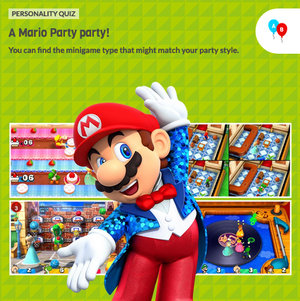 The icon for Mario Party The Top 100 Fun Personality Quiz