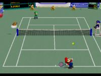 Open Court in the game Mario Tennis (Nintendo 64).