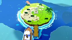 Full Moon Island in Paper Mario: The Origami King