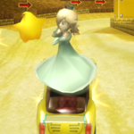 Rosalina performing a Trick in Mario Kart Wii
