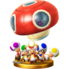 Toad Brigade trophy from Super Smash Bros. for Wii U