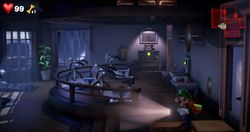 The Training Room in the Fitness Center in Luigi's Mansion 3