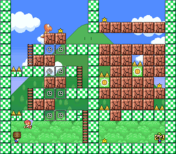 Level 3-5 map in the game Mario & Wario.