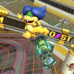 Ludwig von Koopa performing a trick. Mario Kart 8.