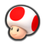 Toad's head icon in Mario Kart 8