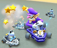 The icon of the Dry Bowser Cup challenge from the Exploration Tour in Mario Kart Tour.