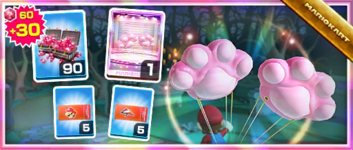 The Toe-Bean Balloons Pack from the Sydney Tour in Mario Kart Tour