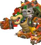 A Shiny RoboBowser's battle sprite from Mario & Luigi: Paper Jam.