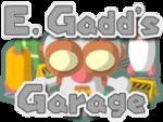 Logo for E. Gadd's Garage in Mario Party 6
