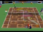 Peach court in the game Mario Tennis (Nintendo 64).