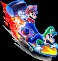 Artwork of a Bros. Attack from Mario & Luigi: Dream Team
