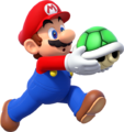 Mario Holding Shell Remake.png