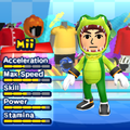 A Vector the Crocodile costume for Miis in the Wii version of Mario & Sonic at the London 2012 Olympic Games.