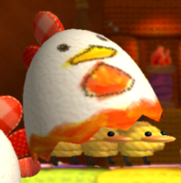 A Miss Cluck from Yoshi's Woolly World.