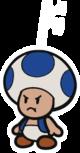 Blue Chosen Toad sprite from Paper Mario: Color Splash.