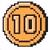 10-Coin icon in Super Mario Maker 2 (Super Mario Bros. 3 style)