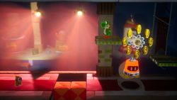 Skulking Around, the second level of Shadowville in Yoshi's Crafted World.