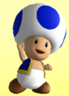 Blue Toad from Mario Super Sluggers