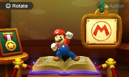 Using an amiibo in the Character Museum from Mario Party: Star Rush