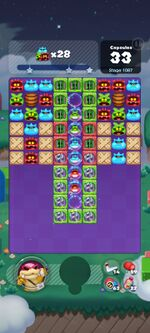 Stage 1087 from Dr. Mario World