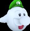 Rendered model of Boo Luigi in Super Mario Galaxy.