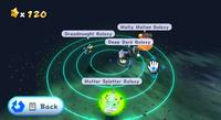 """Garden dome galaxies. """"Super Mario Galaxy World Map,"""" so to say."""