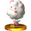 Trophy of Swirlix in Super Smash Bros. for Nintendo 3DS.
