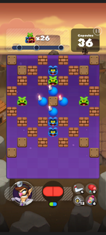 Stage 218 from Dr. Mario World