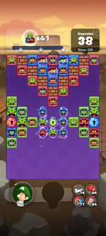 Stage 229 from Dr. Mario World