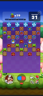 Stage 521 from Dr. Mario World