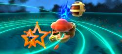 Mario flying to the Cosmic Cove Galaxy in Super Mario Galaxy 2