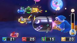 Kamek summons a Banzai Bill in Kamek's Rocket Rampage in Mario Party 10.