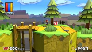 Sunglow Ridge from Paper Mario: Color Splash.