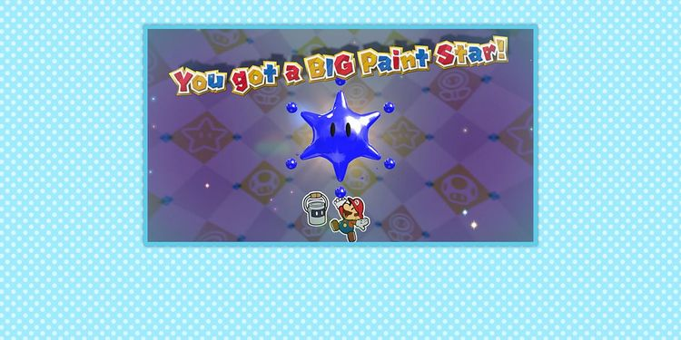 Picture shown with the first question in Paper Mario: Color Splash Trivia Quiz
