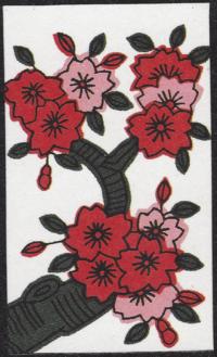 Fourth card of March in the Club Nintendo Hanafuda deck.